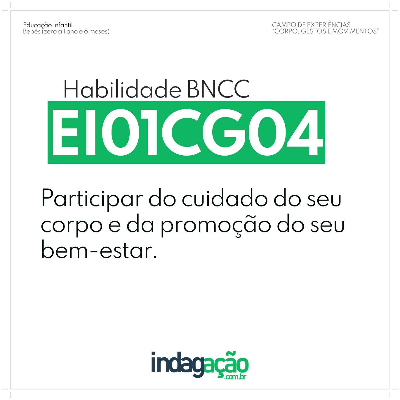 Habilidade EI01CG04 BNCC
