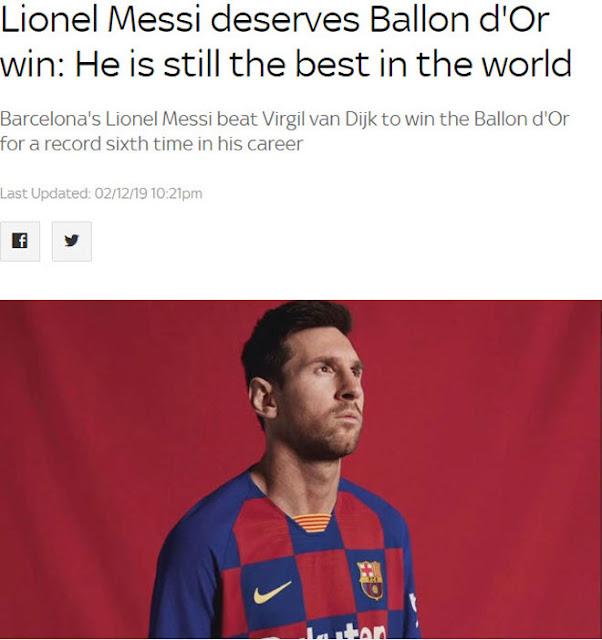"""Messi vượt Ronaldo giành 6 Bóng vàng: Báo chí nể phục, mệnh danh là """"Vua"""" 3"""