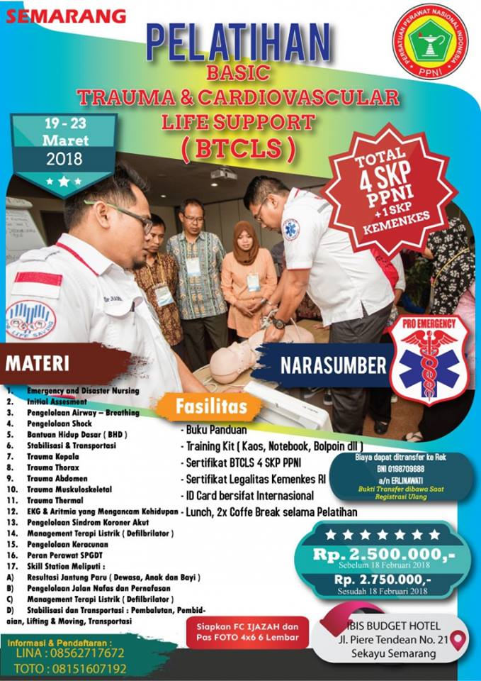 Pelatihan Basic Trauma & Cardiovascular Life Support (BTCLS)