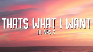 Lil Nas X – THATS WHAT I WANT Lyrics