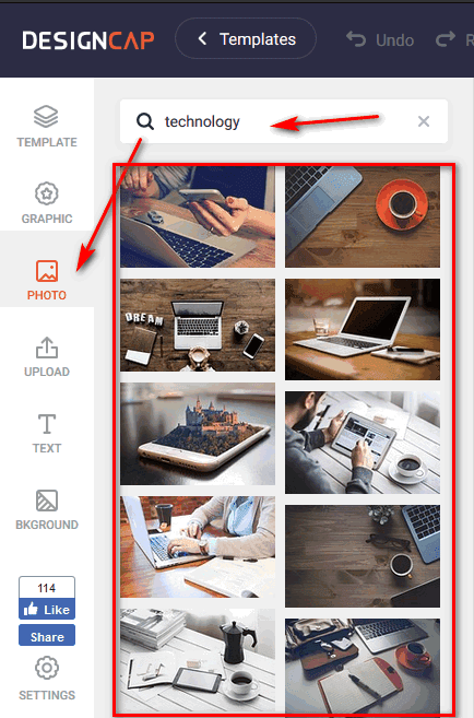 موقع DesignCap افضل موقع تصميم شعارات مجانا اون لاين