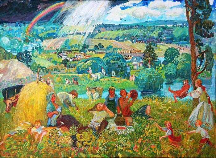 Российская художница. Люба Титовец
