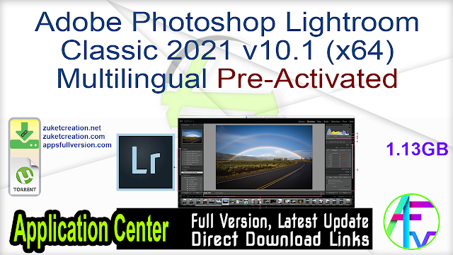 Adobe Photoshop Lightroom Classic 2021 v10.1 (x64) Multilingual Pre-Activated