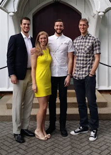 Mason Plumlee With His Siblings