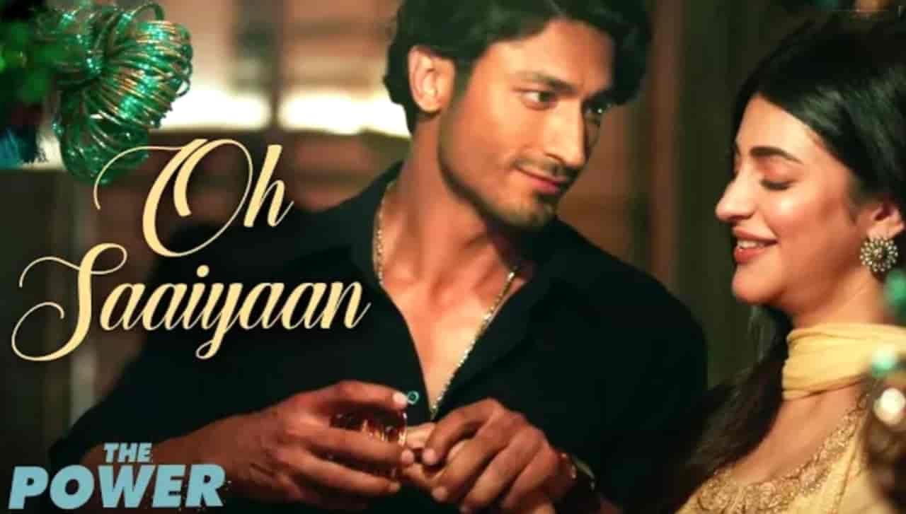 Oh Saaiyaan Hindi Song Image Features Vidyut Jammwal and Shruti Haasan