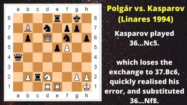 Kasparov Vs Judit Polgar in Linares 1994