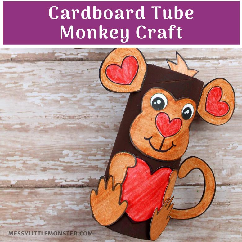 cardboard tube monkey craft