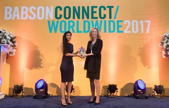 Roshni Nadar Malhotra Conferred With Lewis Institute 2017 Community Changemaker Award by Babson College