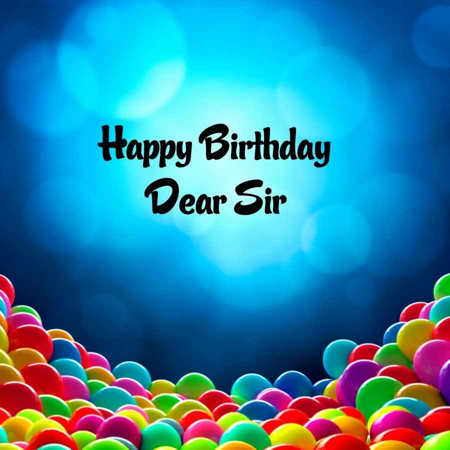 birthday wish for sir