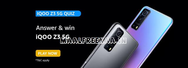 Wanna Get Free iQOO Z3 5G