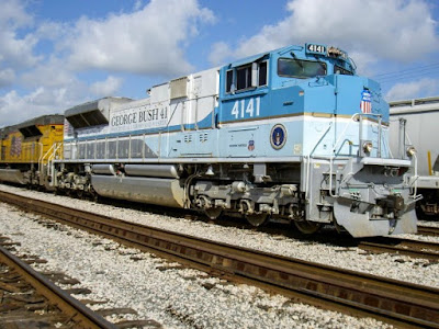Air Force One-like train that will take George Bush to his final resting place