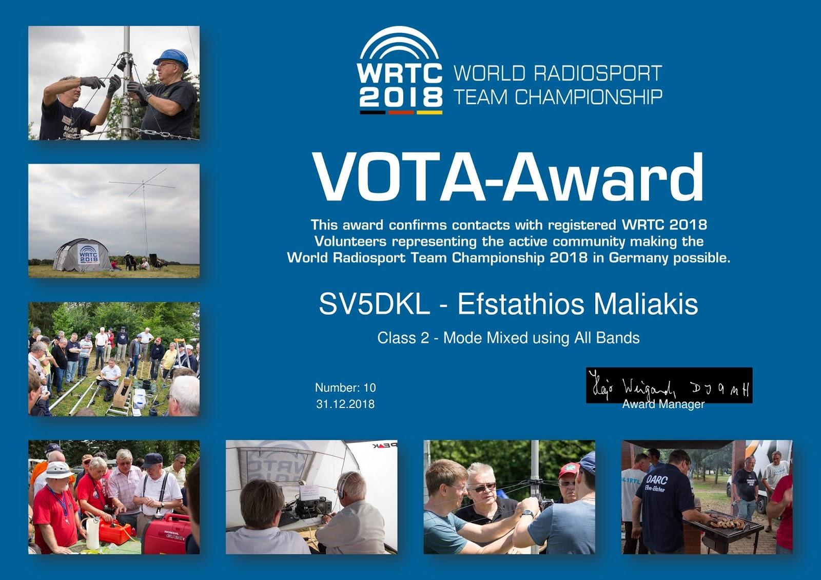 Sv5dkl Amateur Radio Blog Darc Vota Awards Complete