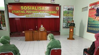 Pasi Ops Kodim Pati Buka Acara Sosialisasi Stunting Posyandu Dan Posbindu