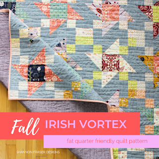 Fall Irish Vortex Quilt | Fat Quarter Friendly | Shannon Fraser Designs