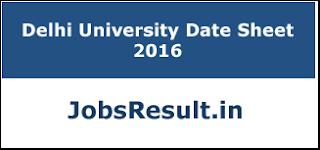 Delhi University Date Sheet 2016