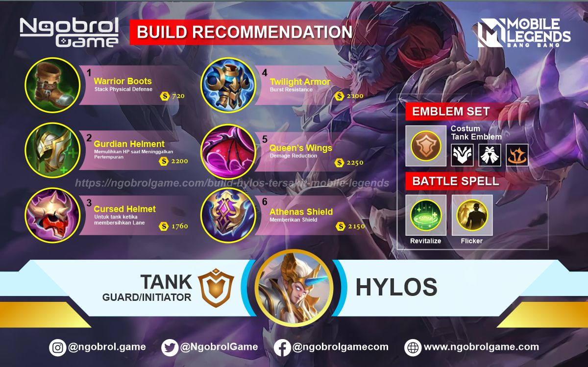 Build Hylos Top Global Tersakit Mobile Legends
