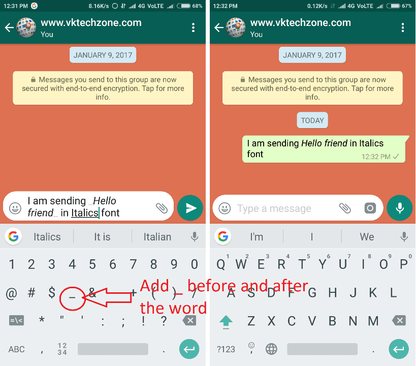 How To Send Whatsapp Messages In A Different Font Style