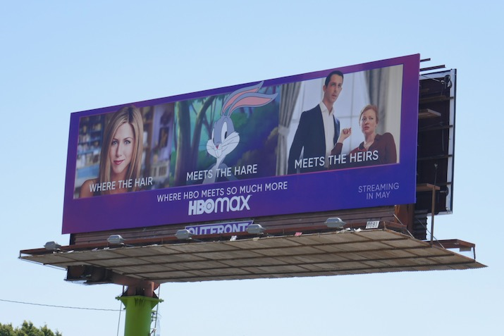 HBO Max Where Hair meets Hare meets heirs billboard