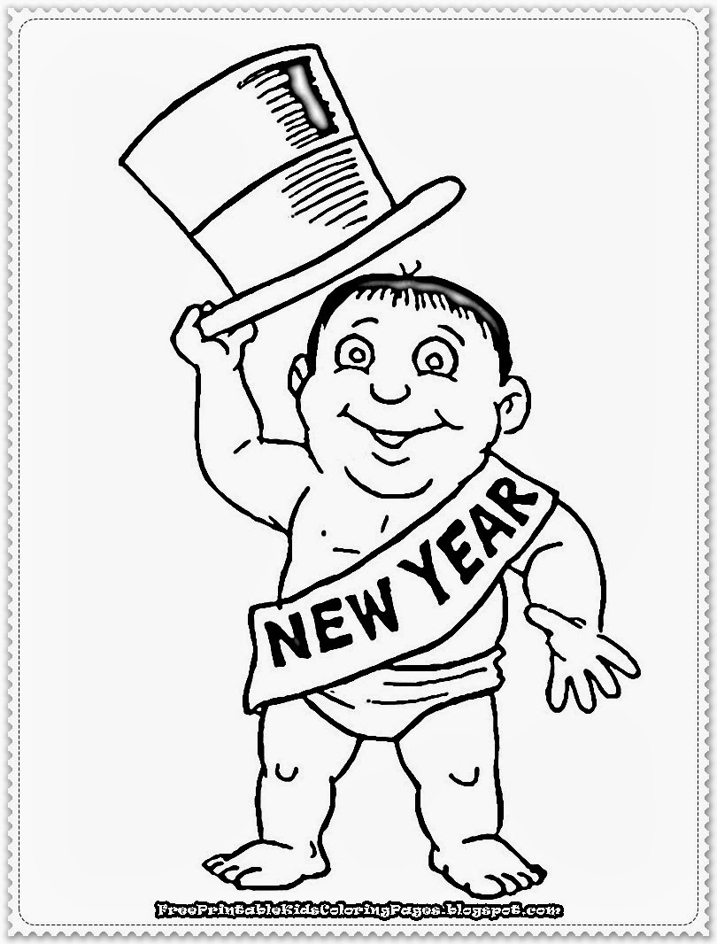 new year printable coloring pages free printable kids coloring pages
