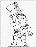 new years coloring pages children printable