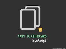 Cara Membuat Function Copy to Clipboard Menggunakan JavaScript 2020