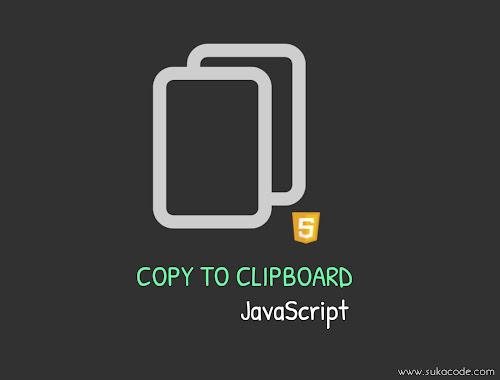 Cara Membuat  Copy to Clipboard Menggunakan