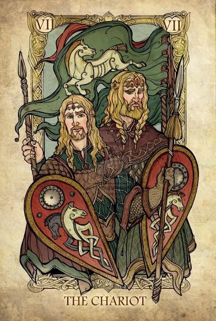 Senhor dos anéis em cartas de tarô - A carruagem