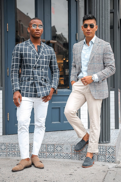 Leo Chan wearing Suit Supply Summer Blazer, Sabir Peele wearing Banana Republic | Asian Model, Asian Man