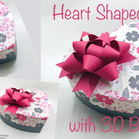 Heartshaped box with 3D bow