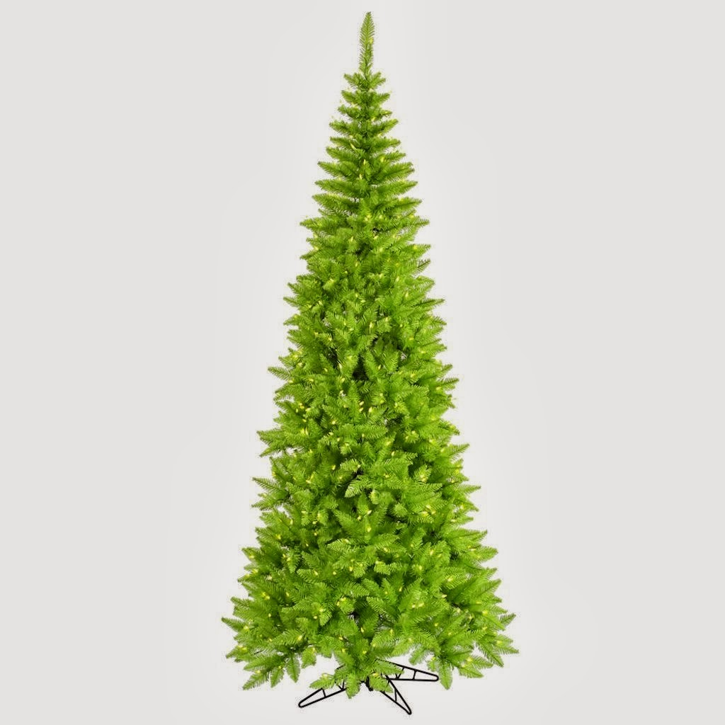 lime green Christmas tree 2