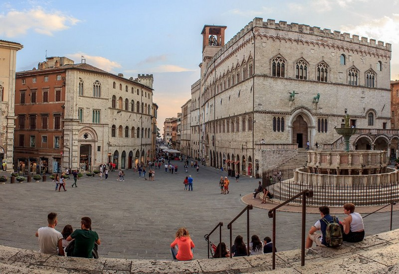 Piazza in Perugia, Umbria, Italy