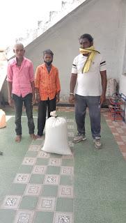 जयस टीम के द्वारा शोकाकुल परिवार को अन्नदान कर मदद की