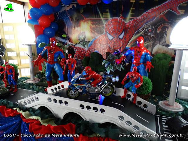 Decoração tema Homem Aranha - festa infantil - mesa decorativa de aniversário