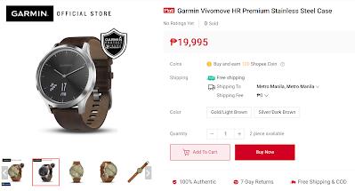 Garmin Vívomove HR Premium Stainless Steel Case