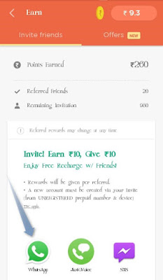 How to refer earn recharge truebalance app