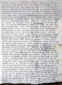 Angeblich ein Redemanuskript im Müll einer Bilderbergerkonferenz.
