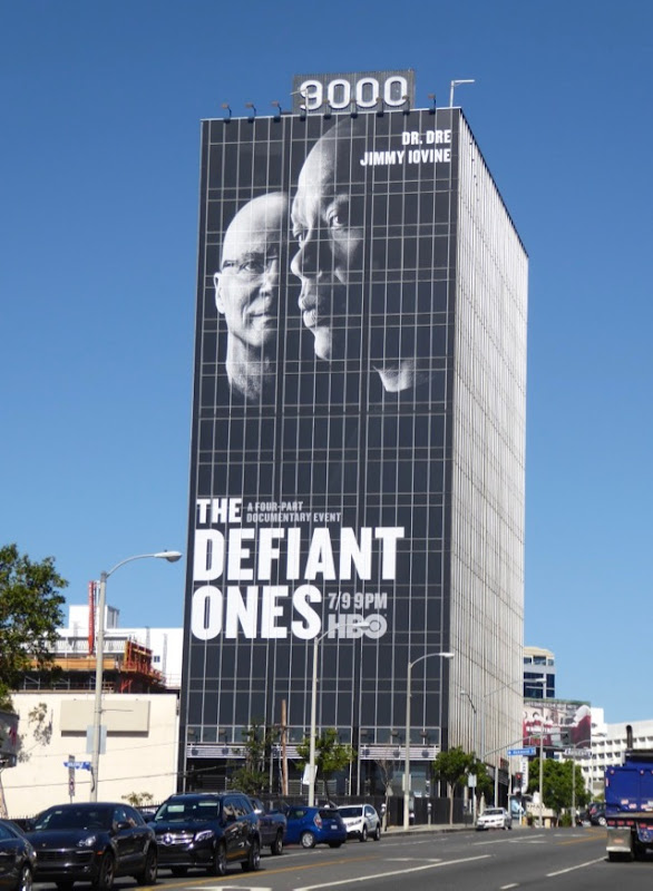 Defiant Ones giant billboard Sunset Strip