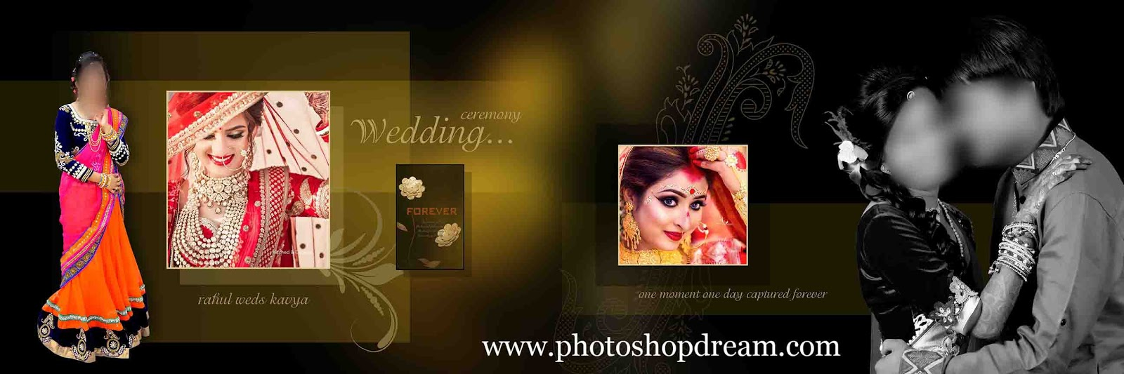 10 Best Free Download Wedding Album PSD Templates 12x36 Collection