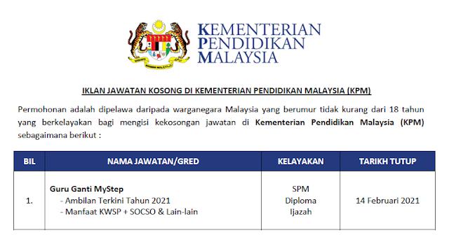mystep kementerian pendidikan malaysia