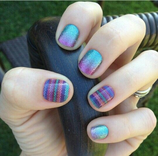 Multi colour Nail Arts