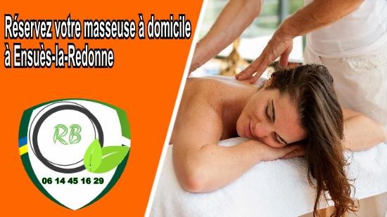 Réservez votre masseuse à domicile à Ensuès-la-Redonne;