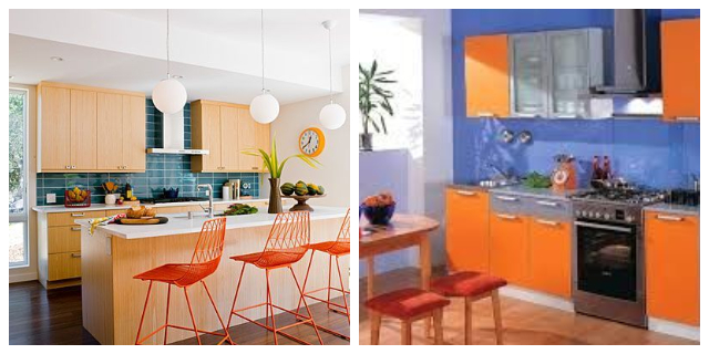 BLUE & ORANGE DECORATING