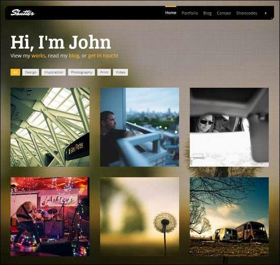 Shutter – Photography & Portfolio WordPress theme