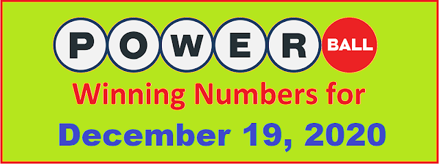 PowerBall Winning Numbers for Saturday, December 19, 2020