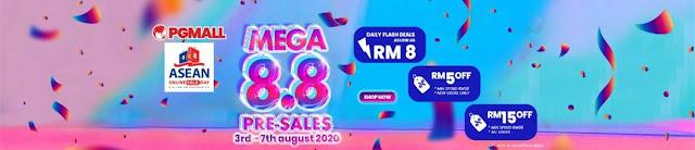 Dapatkan Tawarkan Istimewa Di PG Mall Sempena MEGA 8.8 PRE SALE