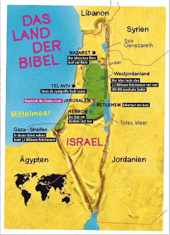 Israel Karte.Caepsele Israel Karte