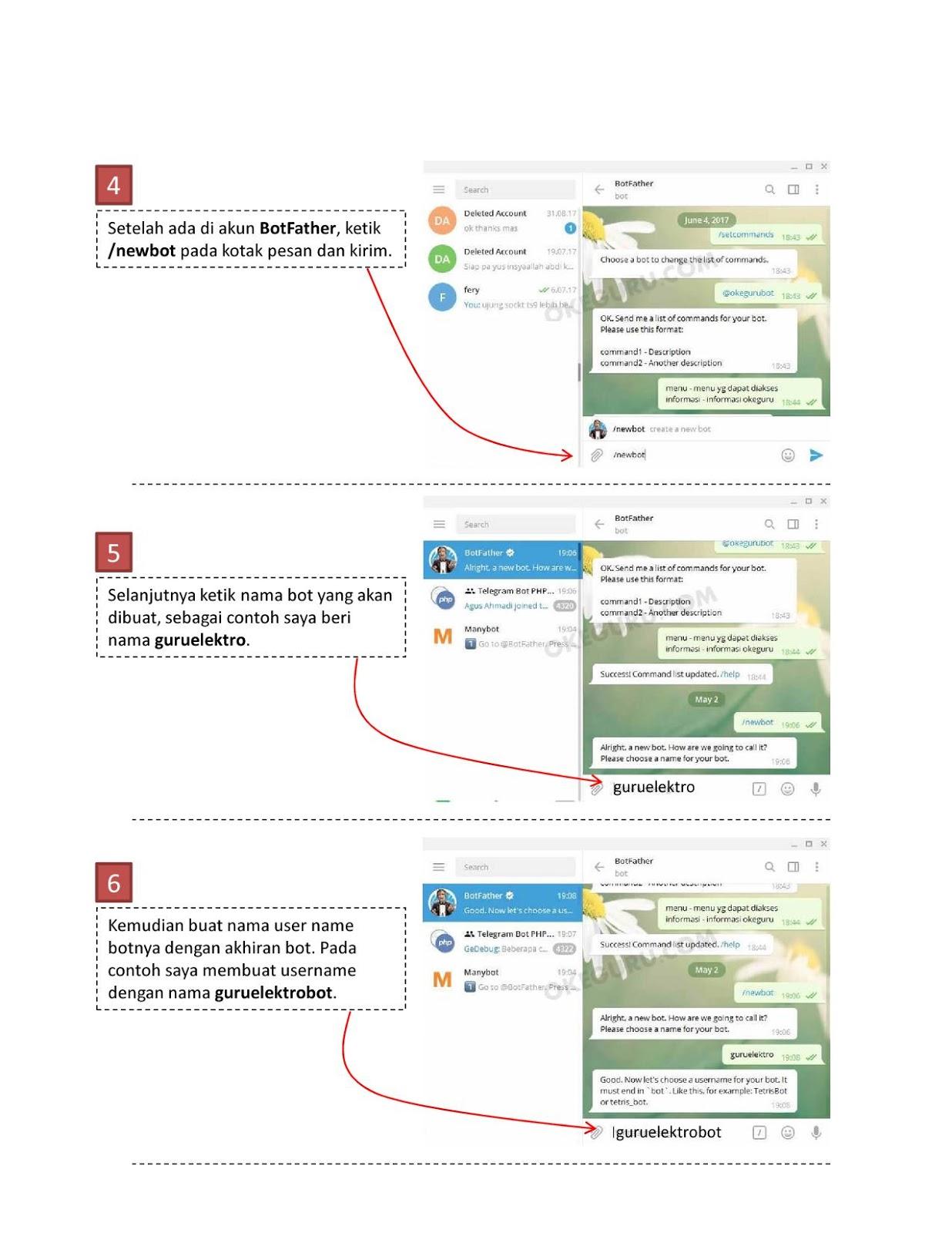 Cara membuat bot telegram 2