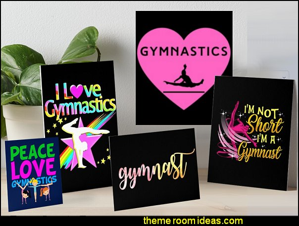 GYMNASTICS WALL ART GYMNAST POSTERS GIRLS SPORTS BEDROOM WALL DECORATIONS