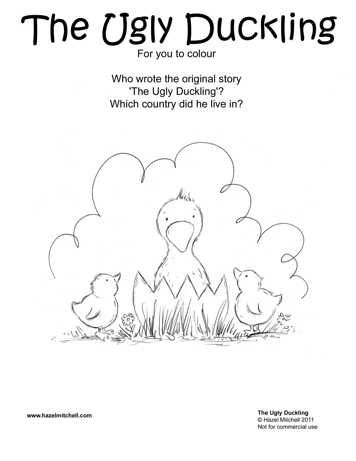 ugly duckling coloring page - photo #39