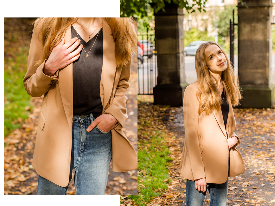Autumn outfit with camel blazer - Syysasu kamelibleiserin kanssa